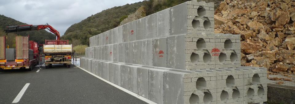 Muri di sostegno con Geobloc